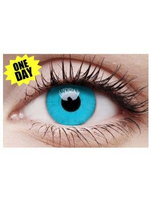 Sky Blue Single Wear Coloured Contact Lenses