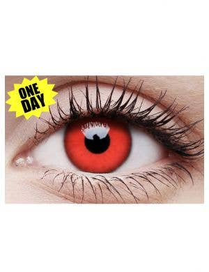 Devil Red Single Wear Colour Change Contact Lenses