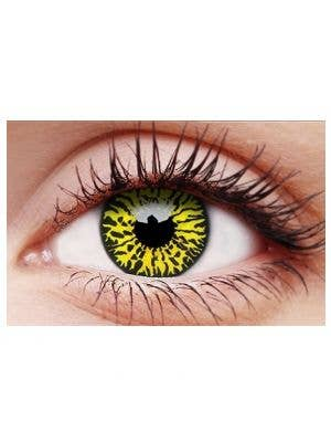 Yellow Eclipse 90 Day Wear Costume Contact Lenses
