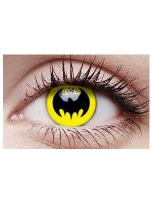 Bat Crusader Yellow Cosmetic Contact Lenses