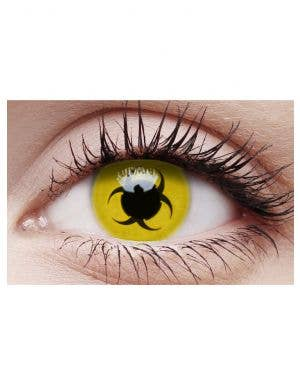 Biohazard Yellow Cosmetic Contact Lenses
