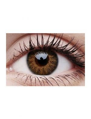 Glamour Honey Brown Coloured Cosmetic Contact Lenses