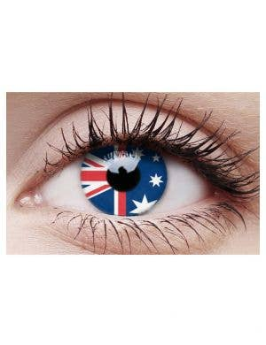 Australian Flag Novelty Contact Lenses