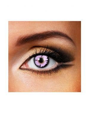 Pink Witch Coloured Contact Lenses 90 Day 3 Month Wear View 1