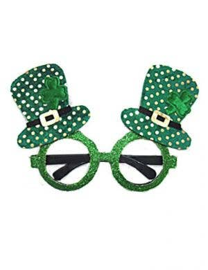 Leprechaun Hat Novelty Irish Glasses Costume Accessory