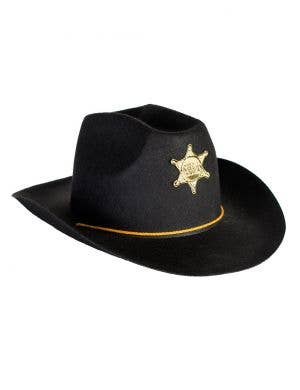 Cowboy Sheriff Black Costume Hat