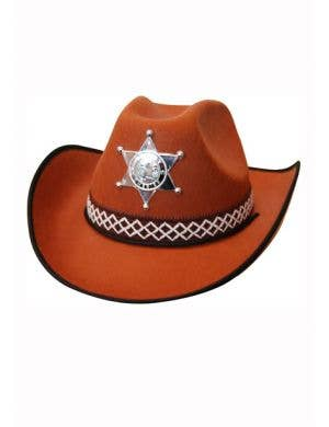 Brown Cowboy Sheriff Wild West Costume Accessory Hat