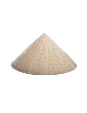 Bamboo Chinese Coolie Rice Hat Costume Accessory