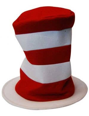 Red and White Striped Dr Seuss Cat in the Hat Costume Hat