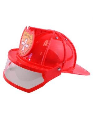 Fire Chief Red Costume Helmet with Visor