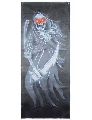 Light and Sound Reaper Door Curtain Halloween Decor Decoration View 1