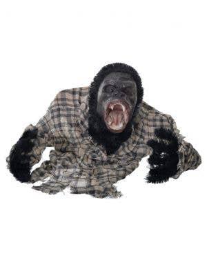Animated Ground Breaker Black Gorilla Halloween Decoration