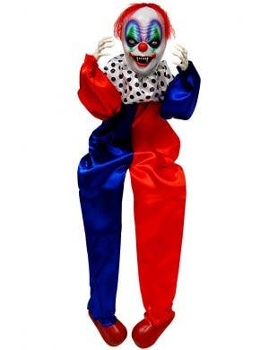 Sitting Clown Halloween Decoration with Sound and Movement