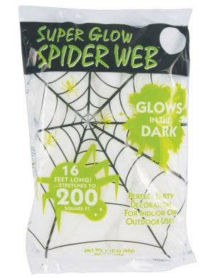 Super Stretchy Glow in the Dark white spiderweb halloween decoration