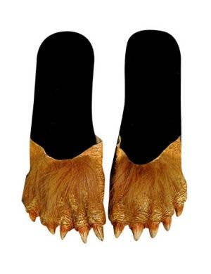 Hairy Werewolf Adults Halloween Costume Slide Shoes