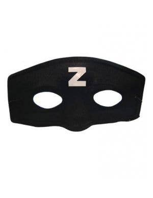 Basic Black Zorro Cheap Costume Mask