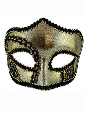 Adults Metallic Gold Masquerade Mask