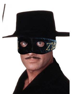 Deluxe Zorro Satin Costume Mask