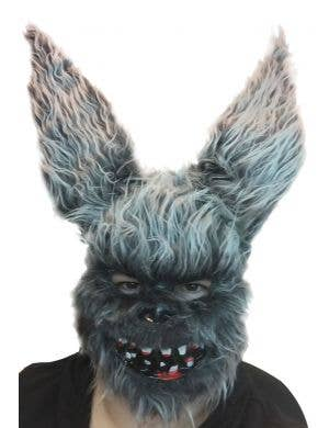 Furry Evil Rabbit With Bloody Teeth Horror Halloween Costume Mask