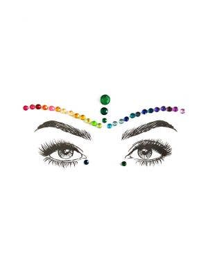 Pride Rainbow Diamond Daze Stick On Face Jewels