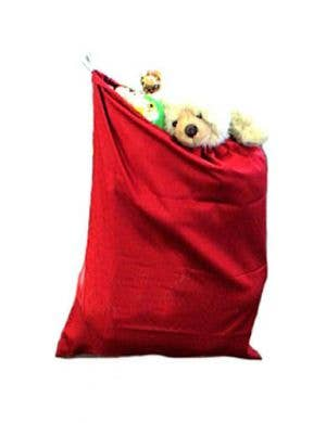 Bright Red Novelty Santa Sack Christmas Costume Accessory
