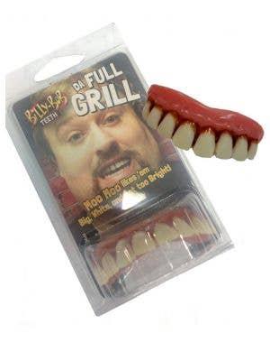 Da Full Grill Custom Fit Fake Teeth Costume Accessory