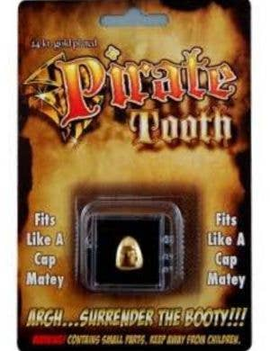 Custom Fit Gold Pirate Tooth Cap Costume Accessory