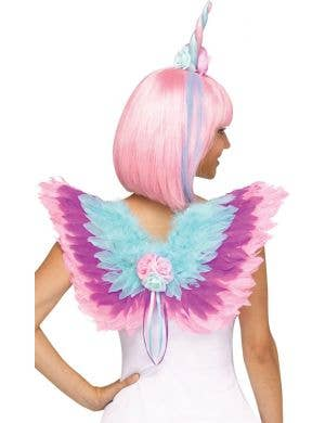 Pastel Unicorn Horn and Wings Costume Accessory Set