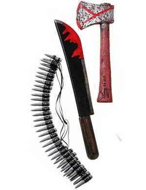 Zombie Hunter Costume Weapon Accessory Kit