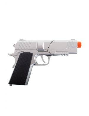 Silver Metal Cap Gun Costume Accessory Pistol Main Image