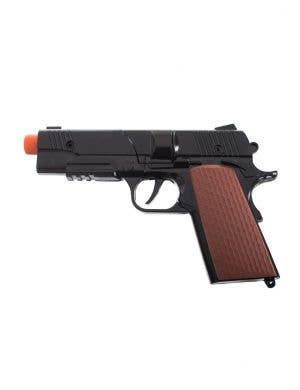 Black Metal Cap Gun Costume Accessory Pistol Main Image
