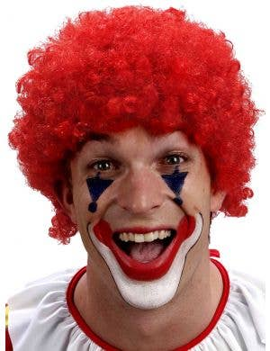 Curly Red Clown Afro Costume Wig for Adults