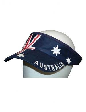 Navy Blue Australian Flag Novelty Visor Cap For Australia Day