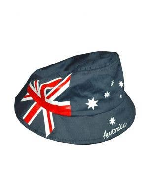 Navy Blue Novelty Australia Day Bucket Hat With Australian Flag View 1