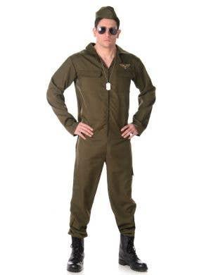 Men's Top Gun Flight Suit Costume Main Image