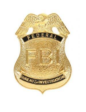 FBI Novelty Gold Costume Badge