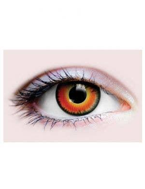 Beast Orange 90 Day Wear Halloween Contact Lenses
