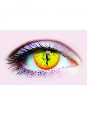 Jurassic Yellow Dinosaur 90 Day Wear Contact Lenses
