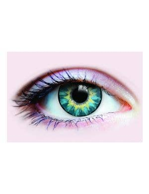 Bright Turquoise Green Coloured Contact Lenses by Primal