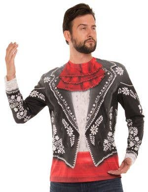 Faux Real Mexican Mariachi Men's Costume Top