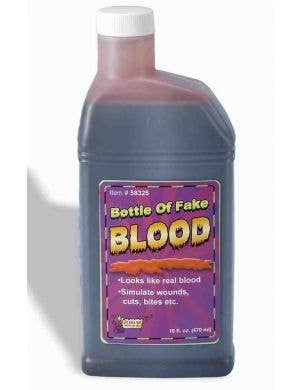 470ml Pint of Bright Red Realistic Halloween Special Effects Blood