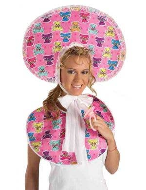 Baby Girl Adults Novelty Bib and Bonnet Costume Kit