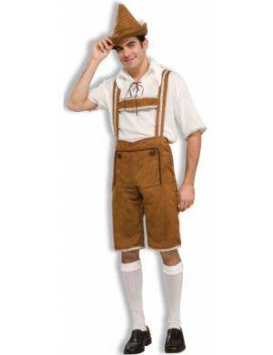 Traditional Oktoberfest Men's Lederhosen Fancy Dress Costume