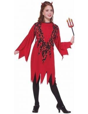 Devilish Diva Girls Halloween Fancy Dress Costume