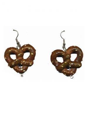 Women's Pretzel Earrings Oktoberfest Costume Accessory