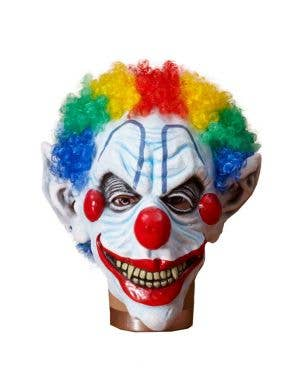 Creepy Clown Evil Halloween Latex Mask With Wig