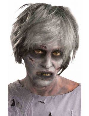 Grey Grave Rot Zombie Halloween Costume Wig