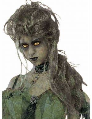 Zombie Lady Green And Grey Grave Rot Costume Wig