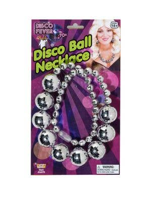 Silver Shiny Disco Ball Necklace Image 1