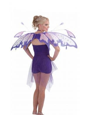 Large Purple Womens Raindrop Fairytale Butterfly Wings